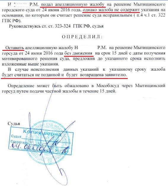 Как написать жалобу на аппеляционное определение тамбовского областного суда