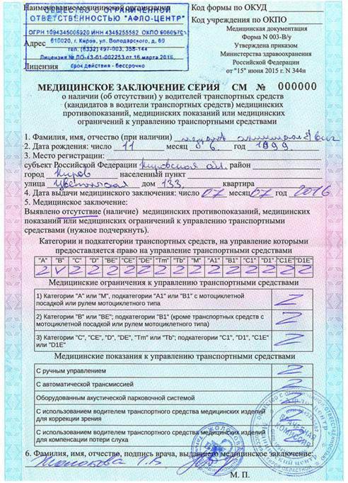Адрес по месту регистрации с индексом образец