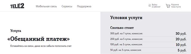 Как на теле2 взять обещанный платеж 500 рублей